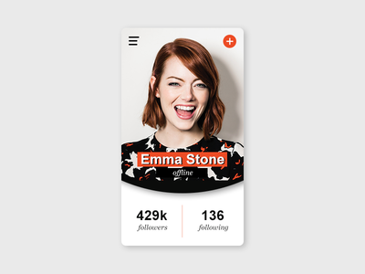 User Profile - Daily UI #006 profile page user profile ui design mobile app ui profile app mobile dailyui 006