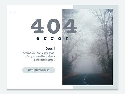 404 Page - Daily UI #008 not found 404 page website webdesign web ui error 404 dailyui 008