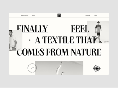 N°003 - Pangram Font figma prototype figma animated motion animation clothes brand coton cotton nature sustainable clothes sustainable brutalist brutalism typography branding design ui uniqlo fashion clothes
