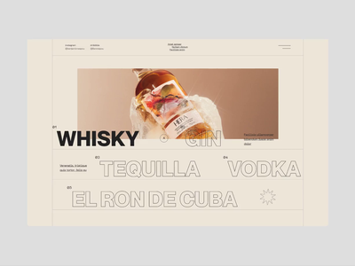 N°005 - Pangram font bottle water drinking exploration cuba bauhaus brutalism mexico tequilla gin whisky survey landing page events fest bar cocktails drink alcohol