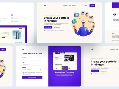 Hello Dribbblers! landing page debutshot debut first shot hellodribbble hello dribble web design ui figma