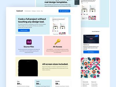 Codewell Landing Page landing page ui web figma design