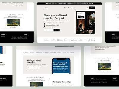 Spense Landing Page ux ui landing page web figma design