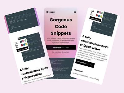 Snipper Landing Page - Free Figma Template ux ui landing page web figma design