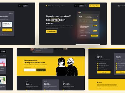 Remix Landing Page ux landing page web ui figma design