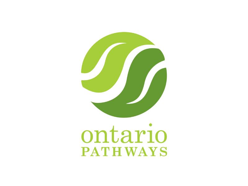 Ontario Pathways Logo upstate ny finger lakes pathways trails logo design branding logo badge adobe illustrator graphic design shape typography illustration flat line design vector