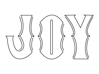 Joy -- Vector hand type graphic design christmas joy vector type typography