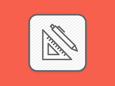 Back on the Icon Grind icon design pencil square ruler design vector icons