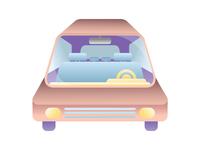 Illustration Challenge 3/5: The Car Ride