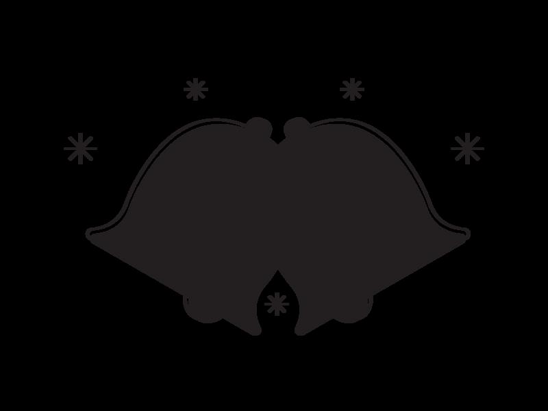 Wedding Bells graphic design black and white illustration design icons flat line vector