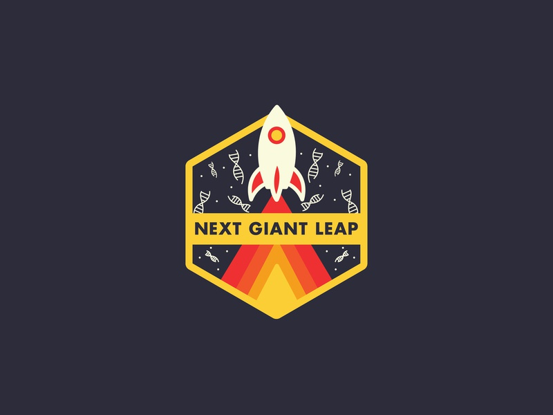 Next Giant Leap science illustration design flat icons line vector space
