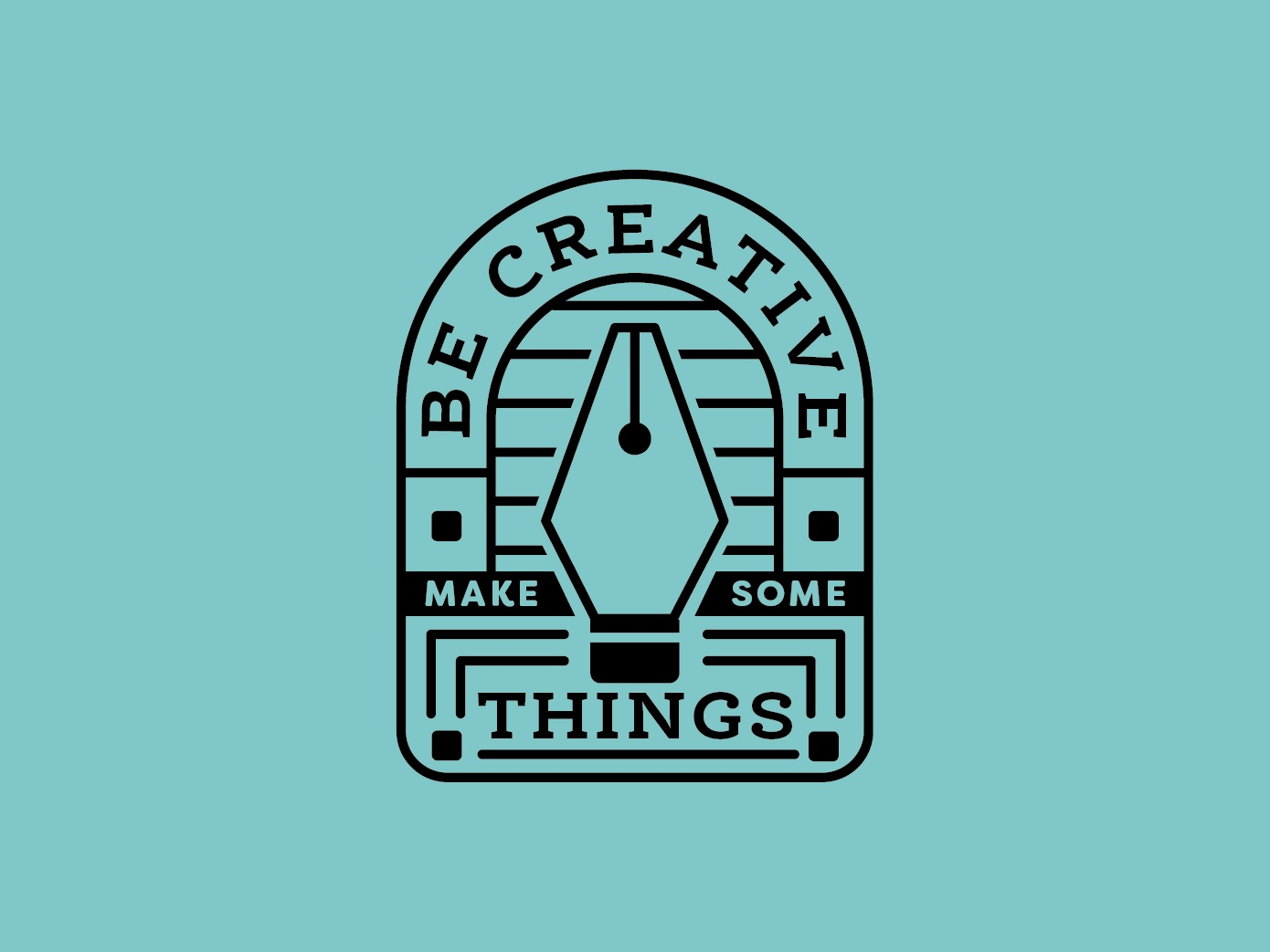 Be Creative 2/4 logo type vector shape quote pen tool typography icons line illustration design flat creative south branding black  white badge logo badge design badge