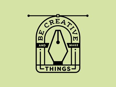 Be Creative 4/4 graphic  design vector typography logotype shape quotes pen tool line illustration icons flat design creative south branding black and white badge logo badge design badge adobe illustrator