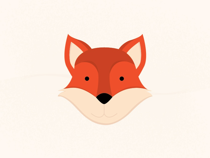 Fox animal art illustrative adobe illustrator animal icons illustration design line flat vector