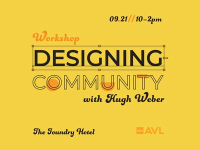 Designing Community Workshop Graphic