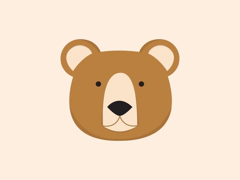 Bear bear illustrative graphic design illustration icons design flat line vector animal animals adobe illustrator