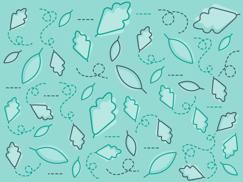 Windy Leaves 🍁 randomness easy creativity quick sketch illustrator dashed lines line weight windy fall leaf graphic design shape illustration icons flat design line vector