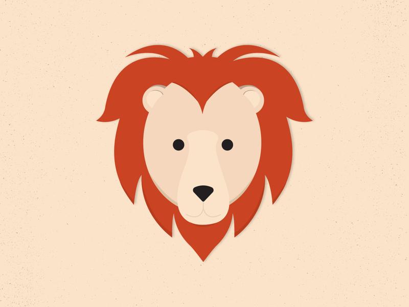 Lion lion simplistic shape line illustration icons graphic design fun flat design cheery bright animals animal illustration