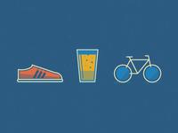 Burpees, Bikes & Brews Icons