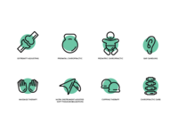 Evolution Chiropractic Icon Set