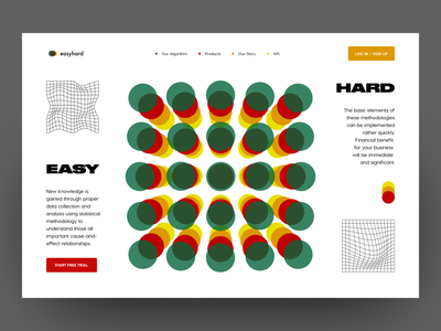 Web Design: Header | Data Analysis and Science graphic design uxui typography grids fonts ui design layout colors shapes design product header web design analytics agency analysis science data