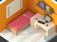 Isometric 3D Room