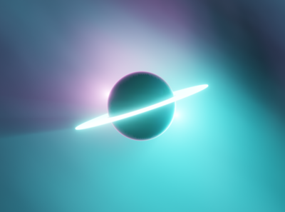 Ring Planet red blue black spacetime space 3d ringplanet ring planet blender blender 3d