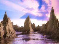 Mountain Sunset render lake mountain blender 3d ninety-niners