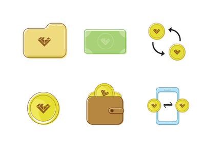 Simple Crypto Icons