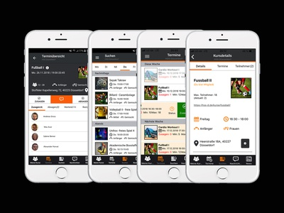 Sport app ux