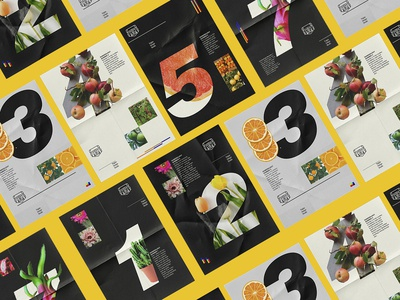Numbers and fruits series