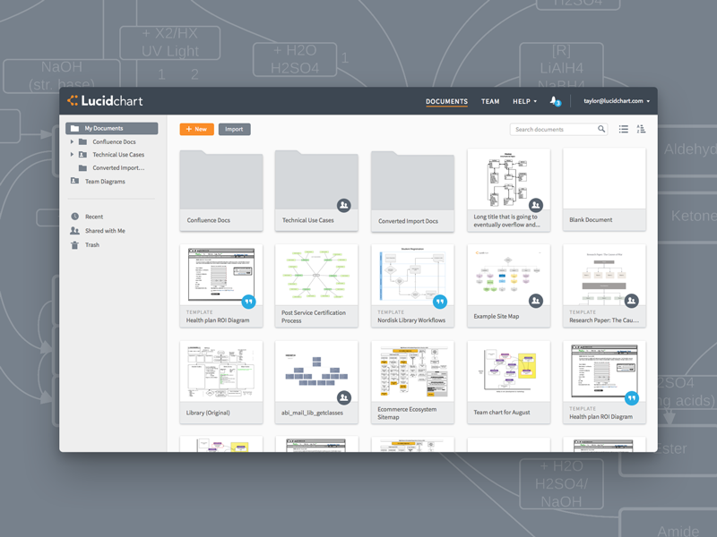 Lucidchart Documents Redesign by Taylor Palmer