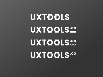 Logos for uxtools.co logotype branding userexperience ux prototyping tools logo