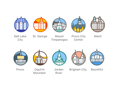 LDS Temple Pins