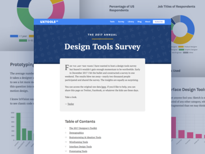 2017 Design Tools Survey chart graph data viz graphs wireframing prototyping research tools ux