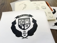 Draplin U Seal of Authenticity  fusesessions draplinu aafindy aigaindy ddc e3 sketch indy elementthree draplin process