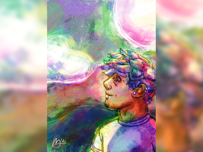 Scope space gay space queer queer art queer space portrait illustration portrait adobe fresco digital illustration illustration