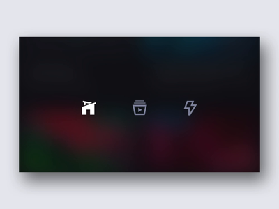 Icon Animation Exploration iphone x ios glossy dark ui after effects motion design icon set iconography animation