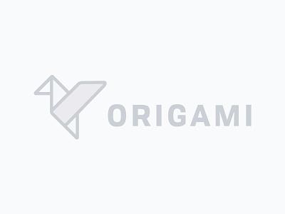 Origami  branding logo illustration japanese bird paper bird paper crane origami