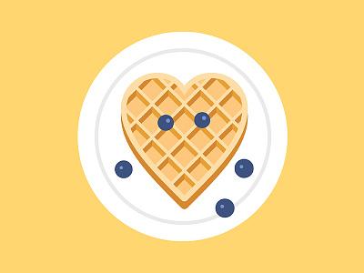 National Waffle Day face blueberries waffles waffle illustration vector