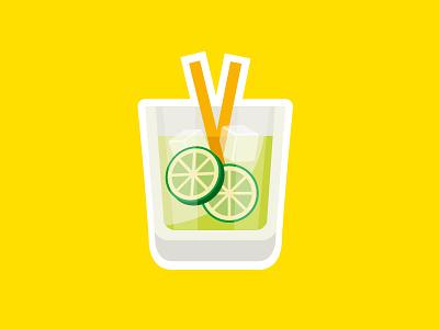 Caipirinha illustration brazilian drink cocktail alcohol caipirinha brazil