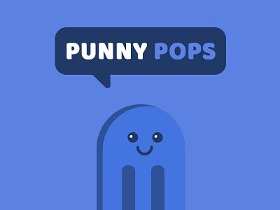 Punny Pops foodie food funny sticker puns illustration popsicles popsicle