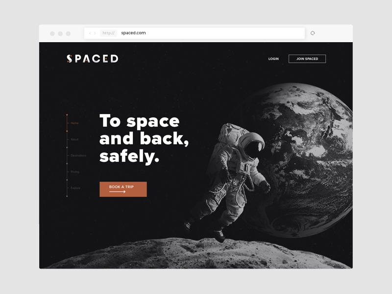 SPACED website ui website outer space space logo spaced challenge spaced