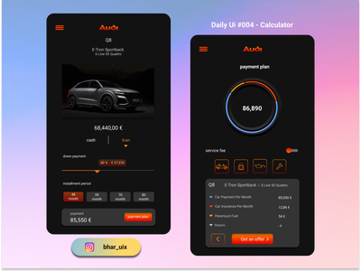 Daily UI - Calculator appdesign minimal 004 loan calculator uiux ux uidesign ui design dailyui