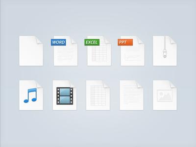 Web file icons