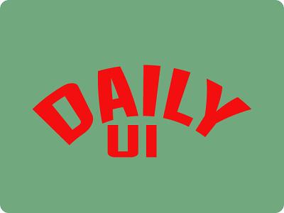 Daily UI ui character design vector typography design illustration branding daily logo dailyui