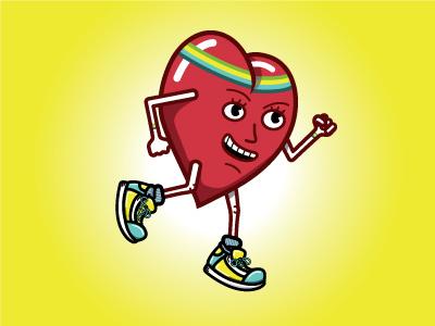 Athlete At Heart Runner heart blog headband sweatband sneakers running athletes glossy
