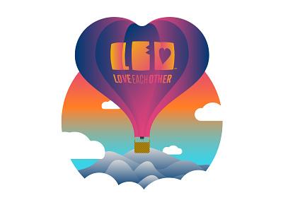 Love Is in the Air mountains clouds love hot air ballon