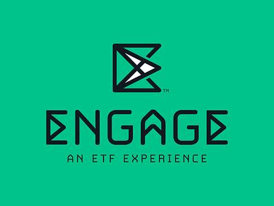 Engage Logo 2 logomark typography conference experience etf logo engage