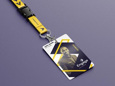 Engage Lanyard arrows engage event design branding lanyard